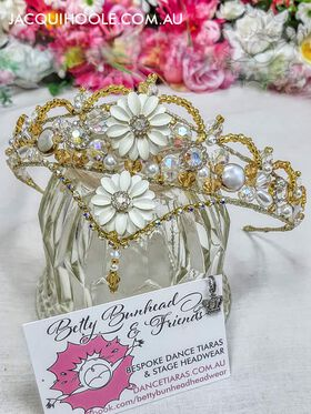 Gold and Pearl Dance Tiaras by Betty Bunhead