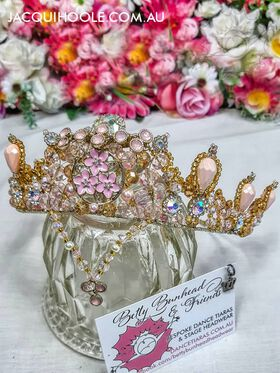 Pink crystal and diamonte princess dance tiara by Betty Bunhead Tiaras