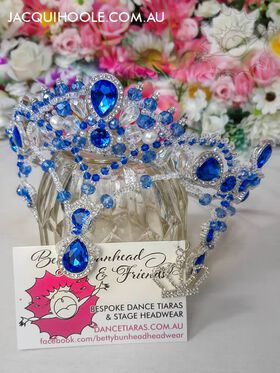 Stunning Blue Dance Tiara by Betty Bunhead Tiaras